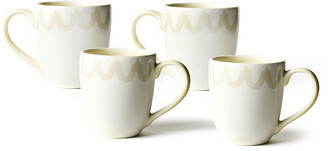 N. Arabesque Trim Mugs, Set of 4