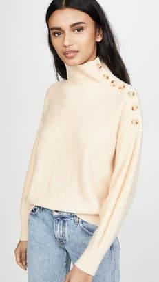 Club Monaco Cashmere Button Neck Sweater