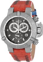 Invicta Women's 11626 Subaqua Chronograph Silver Dial Red Leather Watch