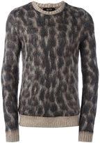 No.21 leopard print jumper