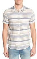 Lucky Brand Stripe Short Sleeve Sport Shirt