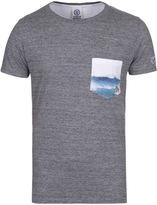 Franklin & Marshall Grey Marl Crew Neck Pocket T-shirt