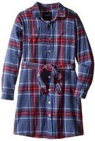 Toobydoo Skylar Flannel Shirtdress (Toddler/Little Kids/Big Kids)