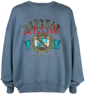 Amiri Embroidered Coat Of Arms Sweatshirt