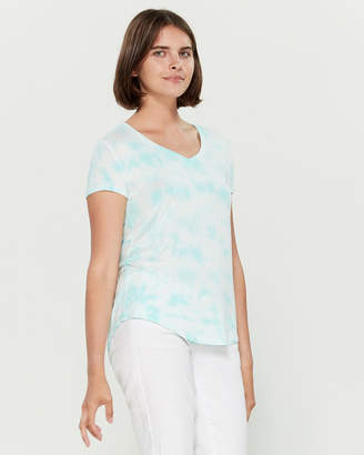 Aeropostale Tie-Dye Perfect V Short Sleeve Tee