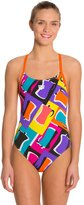 Arena Espresso Female Lightech Back One Piece Swimsuit 8124941