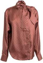Mulberry Polka Dot Blouse