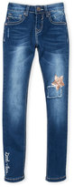 Vigoss Girls 7-16) Star Knee Patch Skinny Jeans