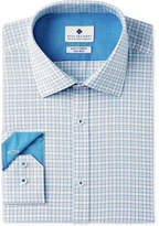 Ryan Seacrest Distinction Ryan Seacrest DistinctionTM Men's Slim-Fit Stretch Non-Iron Teal Check Dress Shirt, Created for Macy's