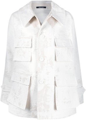 Maison Margiela Oversized Paint-Finish Jacket