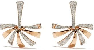 Brumani 18kt rose gold Buriti diamond stud earrings
