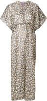 Eres leopard print beach dress