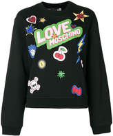 Love Moschino sequin patch printed jumper