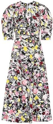 Erdem Cressida cotton poplin midi dress