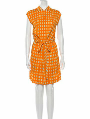 Prada 2013 Knee-Length Dress Orange