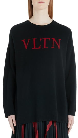 83bc88edabf9b2 Valentino Black Women's Sweaters - ShopStyle