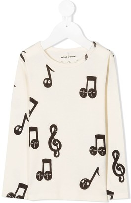 Mini Rodini music note-print T-shirt