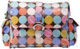 Kalencom Disco Dots Laminated Buckle Diaper Bag - Cocoa