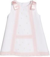 Luli & Me Girl's Pique Lace-Trim Dress, Size 3-18 Months