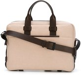 Troubadour - Fabric + Leather Briefcase - men - Leather/Canvas - One Size