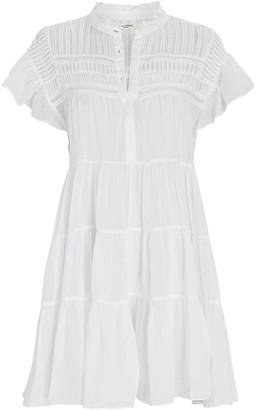 Etoile Isabel Marant Lanikaye Tiered Cotton Mini Dress