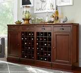 Pottery Barn Modular Bar Buffet with 2 Wine Grid Bases & 2 Cabinets