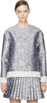 Mary Katrantzou Silver Jacquard Cookie Print Sweater
