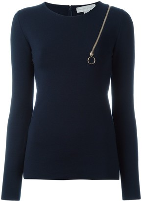 Stella McCartney zip shoulder detail top