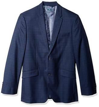 Perry Ellis Men's Slim Fit Washable Plaid Suit Jacket