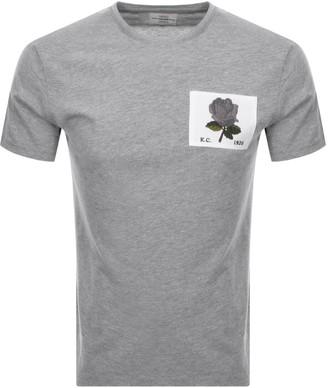 Kent And Curwen Rose T Shirt Grey