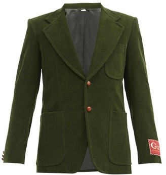 Gucci Single-breasted Cotton-corduroy Jacket - Green