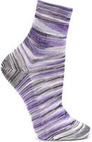 Missoni Striped Crochet-knit Socks - Purple