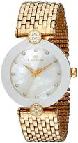 Oniss Paris Women's Quartz Stainless Steel Dress Watch, Color:Gold-Toned (Model: ON8777-LG/WT)