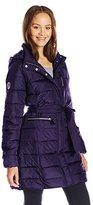 U.S. Polo Assn. Women's Juniors Long Self-Belt Puffer Coat