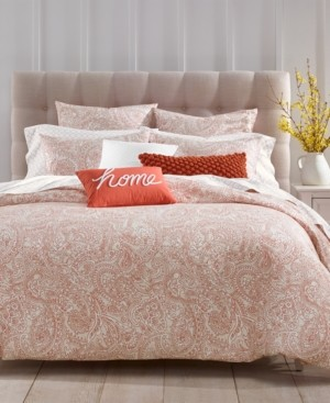 Charter Club Closeout! Damask Designs Paisley Cotton 300-Thread Count 3-Pc. Full/Queen Duvet Cover Set, Created for Macy's Bedding