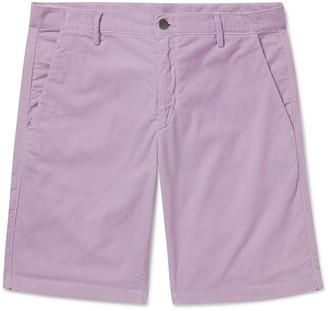 Massimo Alba Slim-Fit Watercolour-Dyed Cotton-Corduroy Shorts - Men - Purple