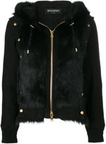 Balmain studded shearling jacket
