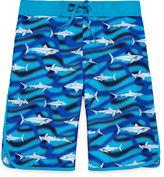 Arizona Boys Shark Swim Trunks-Boys 8-20 and Husky