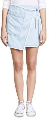Splendid Women's Faux Wrap Skirt Polar M