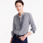 Thomas Mason Collection for J.Crew gingham ruffle-front shirt