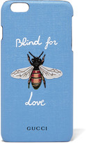 Gucci Blind For Love Printed Coated-canvas Iphone 6 Plus Case - Light blue