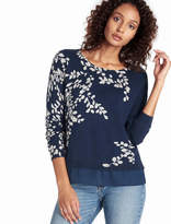 Lucky Brand Leaf Print Pullover