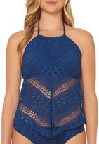 Bleu Rod Beattie Crochet Ole High Neck Fly Away Hankini Top