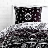 Dormify Bandana Print Reversible Duvet Cover and Sham Set – Charcoal