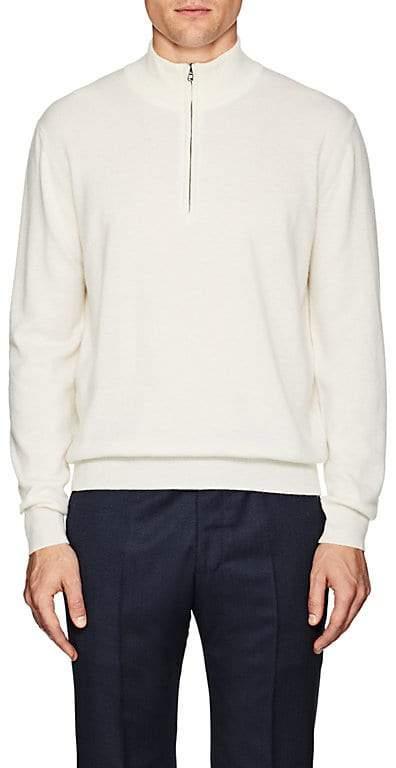 Barneys New York Men's Cashmere Quarter-Zip Sweater