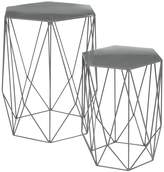 Marks and Spencer Wire Nest of Tables Grey