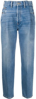 RE/DONE Zoot Cropped High-waisted Jeans
