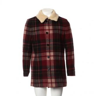 Saint Laurent Burgundy Wool Coats