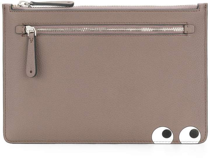 Anya Hindmarch Eyes double zip pouch