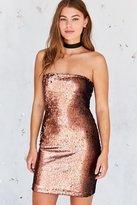 Motel Runaways Sequin Strapless Mini Dress
